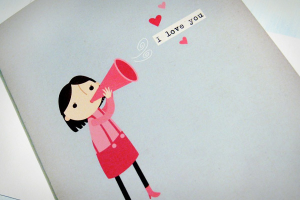 I Love You - Girl with Trumpet ($4.00)