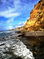 Blacks Beach , California Photography (moonjazz) Tags: tide ocean beach geology california landscape lowtide shoreline southerncalifornia blacksbeach hike waves erosion cliffs natural earth color sandiego bestbeach travel moonjazz best seashore photography