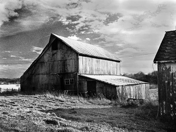 Rural Wisconsin, Barn in Black and White