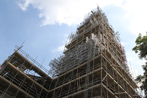 St Alfege scaffolding
