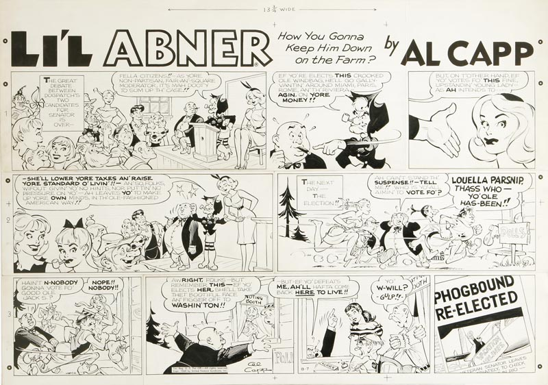 Li'l Abner Sunday Strip, 1960
