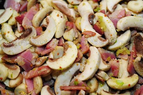 Paste cu bacon si ciuperci