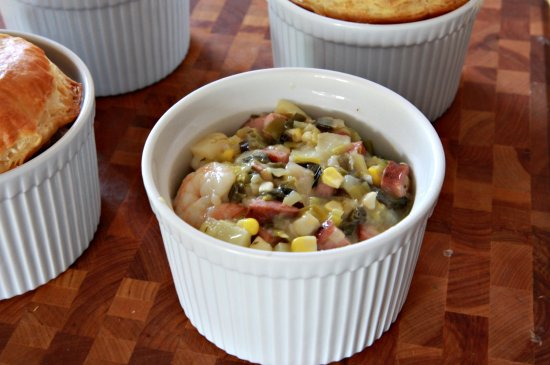 Shrimp and Andouille Pot Pies | The Noshery