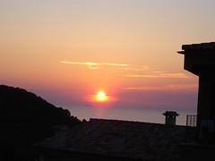 Sonnenuntergang in Escellencs