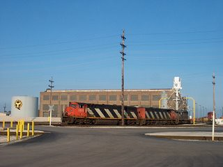 The Belt Railway of Chicago, Clearing Yard locomotive terminal and shops. Bedford Park Illinois. September 2006.