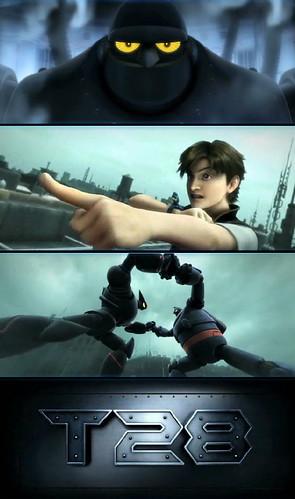 090111(3) - 改編自經典漫畫『鐵人28號』、由香港IMAGI動畫公司所製作的3DCG新作企劃『T28』正式首映前導預告片,並且懇請全球網友投票支持電影的後續製作