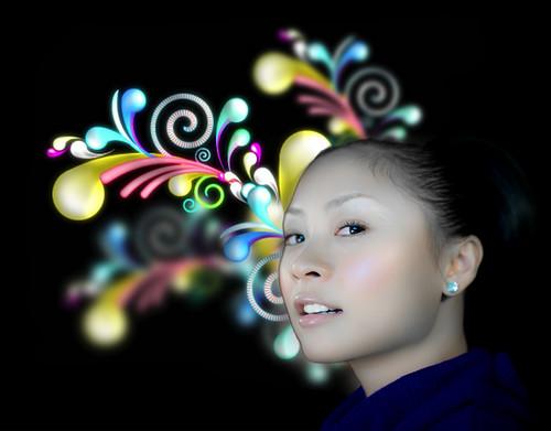 [フリー画像] 人物, 女性, アジア女性, グラフィックス, フォトアート, 201004211900