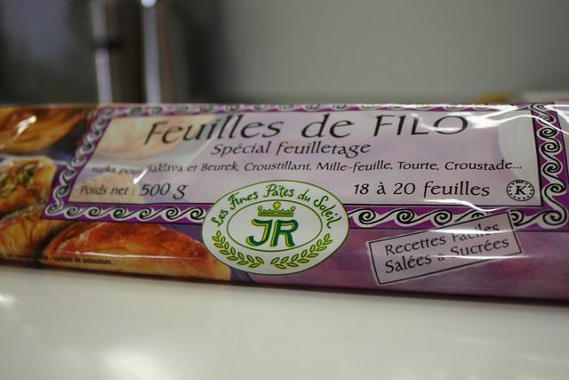 Pasta Filo de 500 gramos de la Marca JR