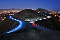 it's not a choice (pbo31) Tags: sf sanfrancisco california road above street longexposure blue light red sky usa black color green northerncalifornia night america dark moving movement lowlight nikon noir view weekend over january headlights tourist latenight hills twinpeaks bayarea vista oneway d200 curve peninsula westcoast 2009 roadway lightstream sanfranciscocounty breaklights