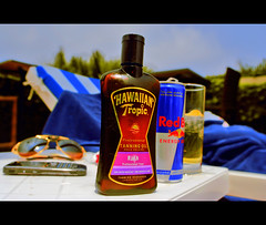 Missing Summer...? (Nazza3a ( NAzNaZ..... )) Tags: red party summer pool sunglasses mobile nokia wings you tan cartier bull hawaiian oil 2008 gives e71