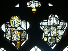 C16 Flemish stained glass, St Margaret of Antioch - Crick