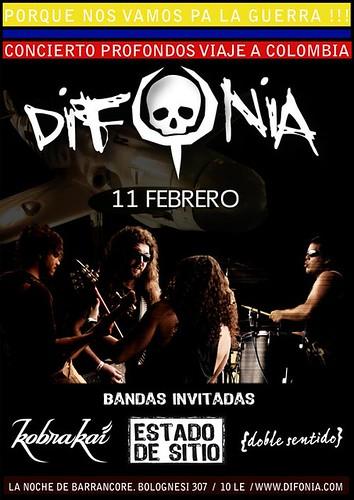 Afiche Difonia Concierto Colombia Rock Peruano