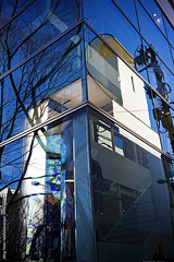 _3033285 copy (mingthein) Tags: morning blue winter sky abstract reflection building japan architecture tokyo nikon availablelight harajuku ming d3 omotesando 2470 onn thein photohorologer