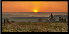 Memory of autumn (Jarda Zakravsky) Tags: sunset panorama church nature d50 nikon scenery panoramic czechrepublic priroda kostel supershot omot platinumphoto anawesomeshot flickrdiamond theperfectphotographer goldstaraward dragondaggerphoto