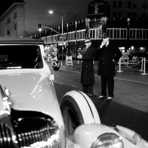 Fox Oakland Gala: Vintage Police Officers in Front Of Building