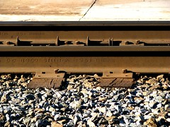 steel (best viewed large) (Dan_DC) Tags: industry virginia big rocks steel tracks bestviewedlarge rail trainstation fredericksburg railroadtracks railstation amtrack railbed vre steelton