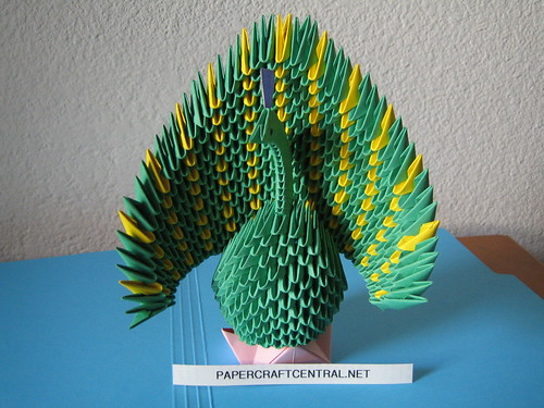 3d Origami Peacock A Photo On Flickriver