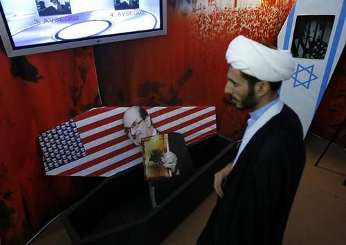 IRAN-POLITICS-EXHIBITION-US-ISRAEL-RUSHDIE