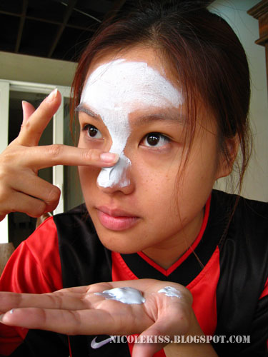 applying mask