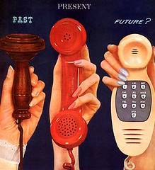 Phone Evolution (MsBlueSky) Tags: hands technology phone ad advert timeline 1960s vintagead westernelectric vintageadvertisement