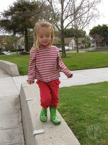 trotting along