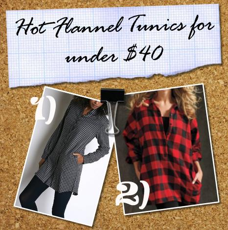 flannel tunics