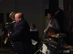Jazz Coventry gig at the Biggin Hall. Feb. 09. Ben Markland, b. Paul Sawtell, p. (Imagine Bill) Tags: hall jazz coventry bigginhall chrisaldridge benmarkland paulsawtell bigginhallcoventry bigginhallpub