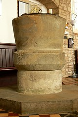 Norman font, St. Giles, Chesterton
