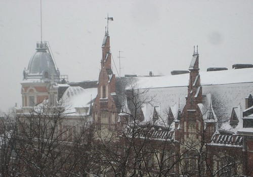 Snow on the roofs