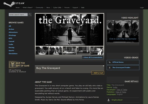 The Graveyard on Steam