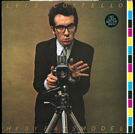 Front cover, This Years Model, Elvis Costello And The Attractions, 1978.