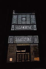 EGY_CAI.090 (photonogrady) Tags: wood house art window monument architecture writing dark islam religion craft carving sombre arab engraving arabe grille calligraphy grind contrejour bois backlighting fenetre ecriture artisanat moucharabieh calligraphie gravure fatimid moucharabie fatimide