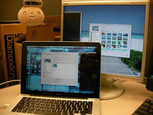 MacBookに外部ディスプレイ接続
