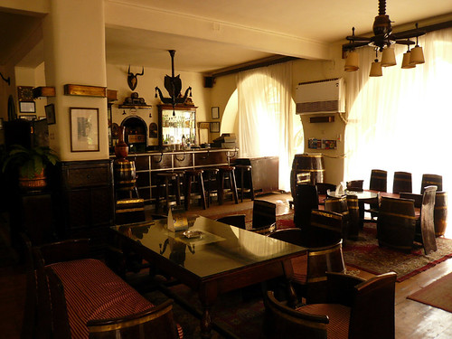 The bar in the Windsor Hotel