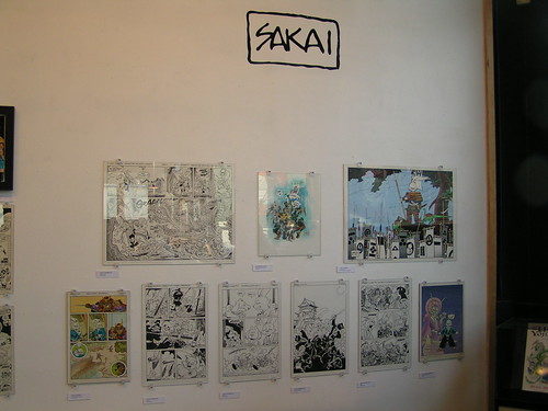 Stan Sakai artwork, Fantagraphics Bookstore & Gallery, 04/04/09