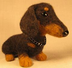 Dachshund (Yana_Art) Tags: dog toy ooak dachshund napoleon needlefelted yanart