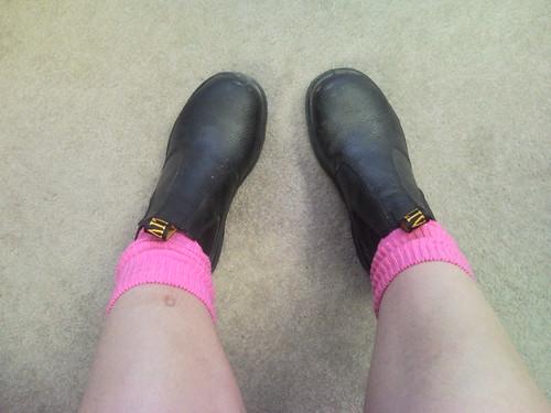 feet me legs 365 pinksocks yportrait steelcappedboots