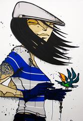 Urban Woman (photo-maker) Tags: urban woman streetart bird art germany deutschland women kunst exhibition baden 2009 carhartt vogel pictureperfect badenwrttemberg weilamrhein karhar carharttausstellung 20090206165229