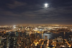 Moon-lit (jver64) Tags: usa moon newyork manhattan moonlit moonlight moonlightglance