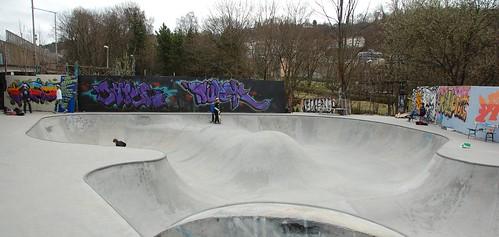 Skateboardparken i Gamlebyen