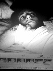 2:02 am (myguerrilla) Tags: blackandwhite selfportrait photobooth daily communication tired worry fighting insomnia fright upset iphone notsurewhattoexpect pictureofapictureonacomputerscreen