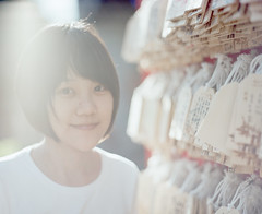 (HaoJan) Tags: light portrait girl cafe pretty rice pentax young fujifilm 24 6x7 67 105mm f24 160s