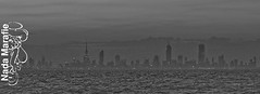 City of Fog (SanforaQ8) Tags: bw panorama lens landscape blackwhite seaside nikon free photographers finepix fujifilm kuwait q8 70200mm s5pro sanfora cityoffog nadamarafie
