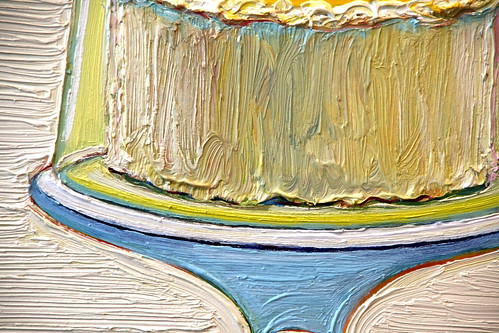 "Close-up of ""Cake Bell"". I am a fan of Wayne Thiebaud&squot;s desserts,"