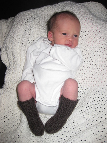 Niece with socks that fits!