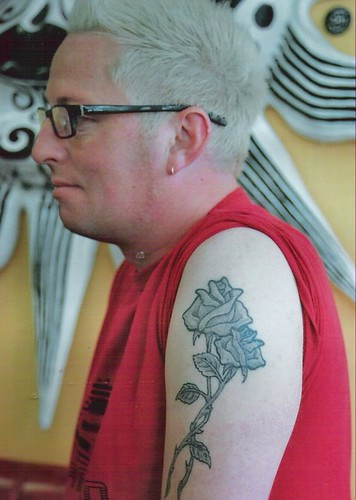 lovely black and grey roses tattoo by tattoodublin.com