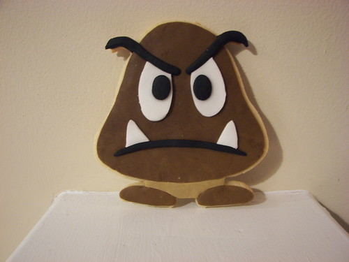 Goomba Cookie from Super Mario Brothers