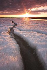 West Plateau (Wolfhorn) Tags: sunset west ice nature water alaska spring big melting plateau wilderness mosquitoes