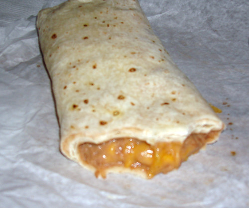 mmmm bean and cheese burrito