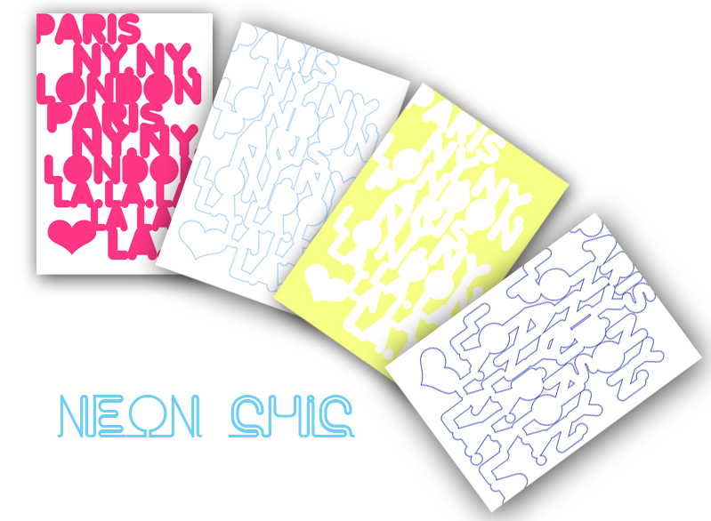 neon chic notes